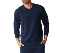 Schlafanzug Sweater Microfaser-Baumwolle navy