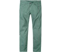 Blue-Jeans Regular Fit Baumwoll-Stretch seegrün
