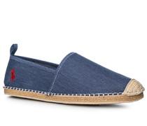 Espadrilles Baumwolle jeansblau meliert
