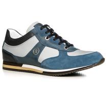 Herren Schuhe Sneaker Leder-Nylon-Mix blau-grau blau,weiß