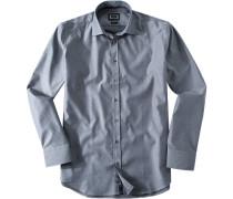 Hemd Modern Fit Baumwolle silbergrau gemustert