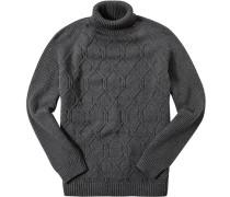 Pullover Baumwolle dunkelgrau meliert