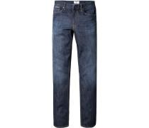Herren Jeans Regular Fit Baumwoll-Stretch indigo blau