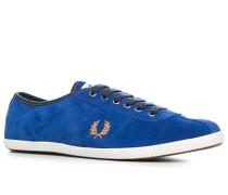 Schuhe Sneaker Veloursleder royalblau