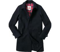 Mantel Regular Fit Wolle COOLMAX® marineblau