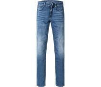 Blue-Jeans, Modern Fit, Baumwoll-Stretch, jeansblau