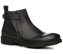 Herren Schuhe Chelsea-Boots Leder schwarz schwarz,blau