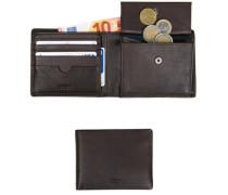 Geldbörse, Leder, kaffeebraun
