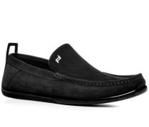 Schuhe Slipper, Veloursleder,