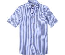 Hemd Modern Fit Popeline himmelblau-weiß gestreift