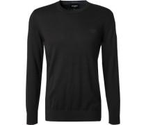 Pullover Baumwolle-Kaschmir jeansblau meliert