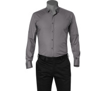 Hemd, Slim Fit, Popeline,