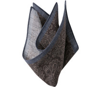Accessoires Einstecktuch Wolle braun-rauchblau paisley