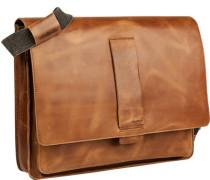 Tasche Messenger Bag, Rindleder, cognac