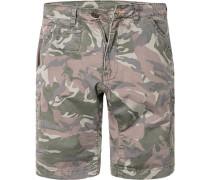 Hose Cargo-Shorts Baumwolle gemustert