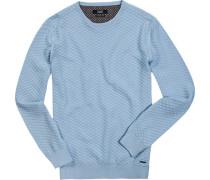 Pullover, Baumwolle, hellblau