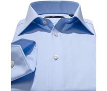 Hemd Slim Fit Popeline Extra langer Arm himmelblau