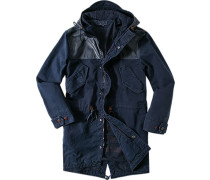 Jacke Parka Regular Fit Baumwolle indigo