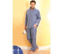 Schlafanzug Pyjama Baumwolle in 2 Farben