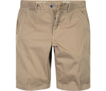 Hose Bermudashorts Regular Fit Baumwolle khaki-beige
