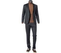 Anzug, Slim Fit, Jersey, anthrazit meliert