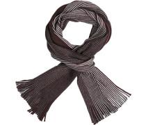 Schal Wolle bordeaux-grau gestreift
