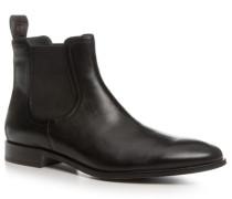 Herren Schuhe Chelsea Boots Leder schwarz schwarz,grau