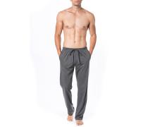 Schlafanzug Pyjamapants Baumwolle meliert