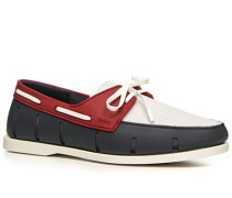 Bootsschuhe Mesh-Kautschuk navy-rot-weiß