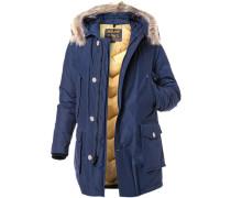 Jacke Arctic-Parka Baumwolle-Nylon Echtpelz royalblau