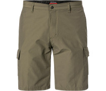 Hose Shorts Tailored Fit Baumwoll-Nylon khaki