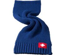 Rippstrickschal Königsblau