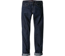 Jeans, Slim Fit, Baumwoll-Stretch, dunkelblau