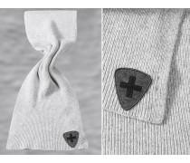 Schal Wollmischung hellgrau meliert