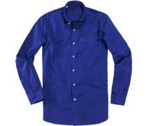 Hemd Regular Fit Baumwolle königsblau