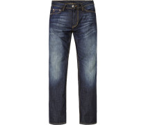 Herren Blue-Jeans Regular Fit Baumwolle denim blau