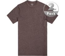 T-Shirt, Regular Fit, Baumwolle, stahlgrau meliert
