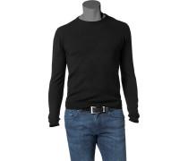 Herren Pullover Woll-Mix schwarz