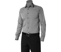 Hemd Ultra Slim Fit Baumwolle mittelgrau meliert