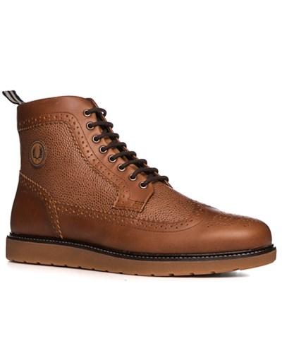 fred perry herren herren schuhe boots leder cognac braun. Black Bedroom Furniture Sets. Home Design Ideas