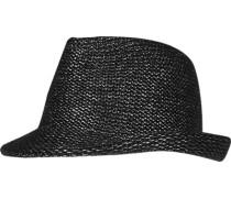 Herren   Strickhut Woll-Mix Schwarz-Silber meliert schwarz