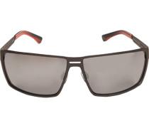 Herren Brillen Sonnenbrille Metall anthrazit-grau