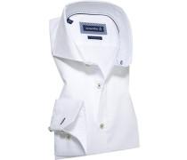 Herren Hemd Slim Fit Chambray Extra langer Arm weiß