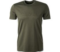 T-Shirt, Baumwolle, khaki