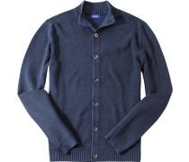 Cardigan Baumwolle dunkelblau