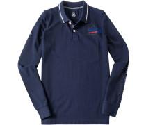 Polo-Shirt Polo Baumwoll-Piqué marine