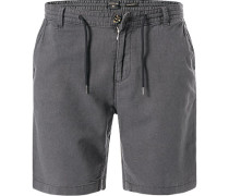 Hose Shorts, Straight Tapered Fit, Leinen
