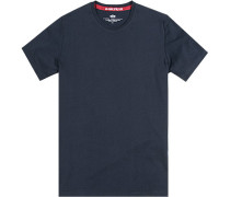 T-Shirt Baumwolle navy