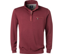 Pullover Troyer Baumwolle bordeaux