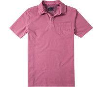 Herren Polo-Shirt Polo Baumwoll-Piqué kirschrot